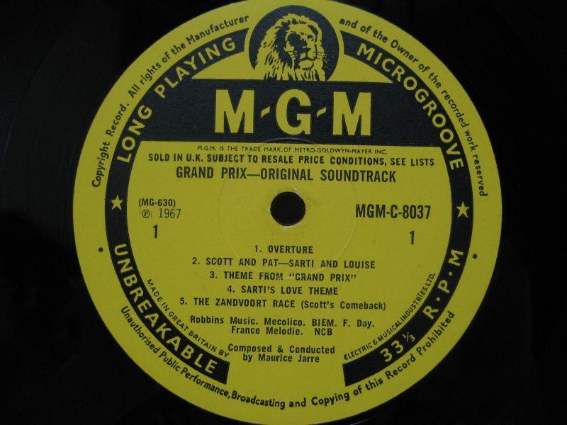 Maurice Jarre Grand Prix The Original Sound Track Album