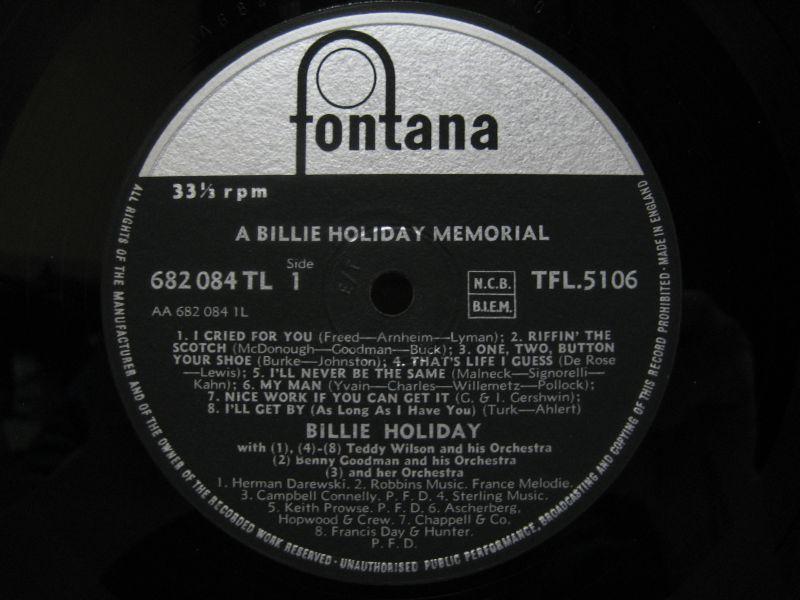 Billie Holiday - Memorial Album