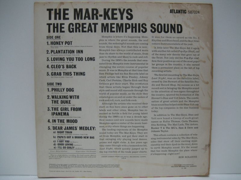 Mar Keys The Great Memphis Sound