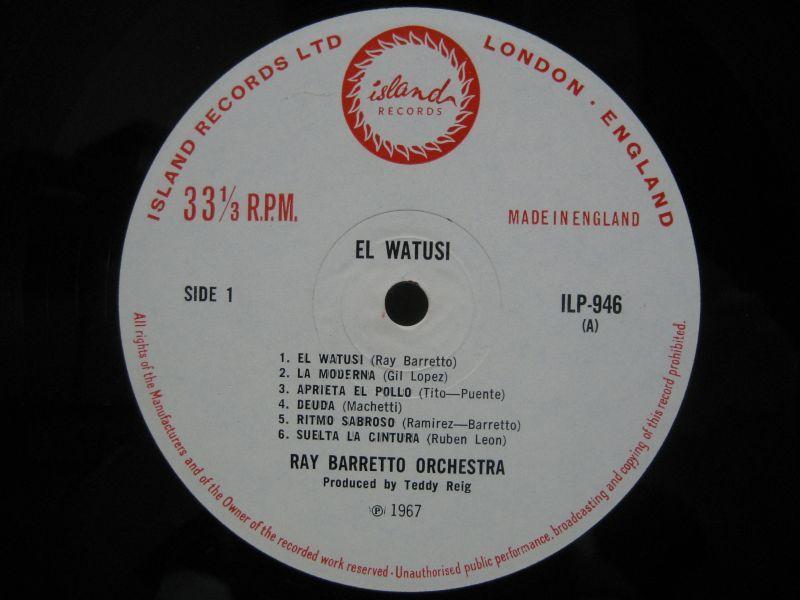 Ray Barretto El Watusi Ritmo Sabroso Enamorado Encendido Otra Vez