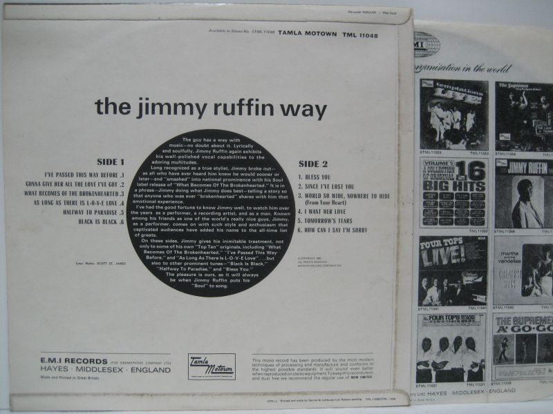 Jimmy Ruffin Love Is All We Need
